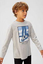 Mango Kids - Dětské tričko s dlouhým rukávem Hover 110-164 cm