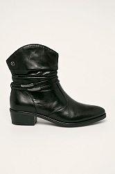 Tamaris - Kožené kotníkové boty